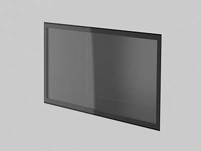 3D model illustration of Elgin Casefront Wall-Mount Showcase (closed)