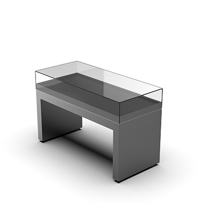 3D model illustration of Ramses Table Top Showcase (closed)