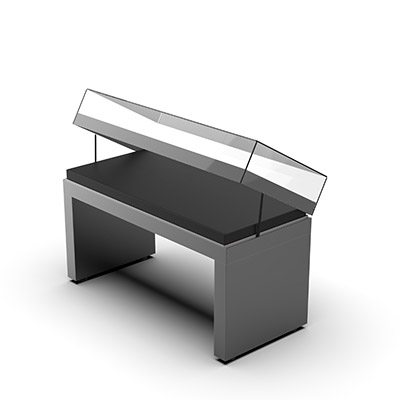 3D model illustration of Ramses Table Top Showcase (open)