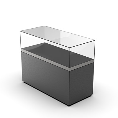 3D illustrated view of table top showcase